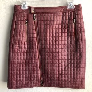 Worth New York moto zip quilted mini skirt 2.